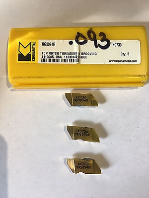 Kennametal N3094R KC730 Cermet Double End Grooving Inserts Qty. 3 USA