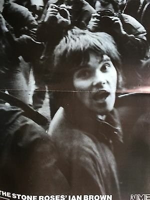 """STONE ROSES / HAPPY MONDAYS # 1990 DOUBLE SIDED POSTER # 16"""" x 24"""""""