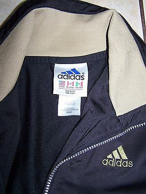 Adidas Zip Jacket Black Green Striped Workout Fitness Womans Jacket Size Large