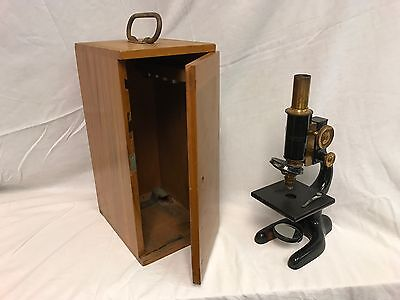Antique Bausch & Lomb Optical Co. Microscope Pat. Jan.5,1915 Wood Box