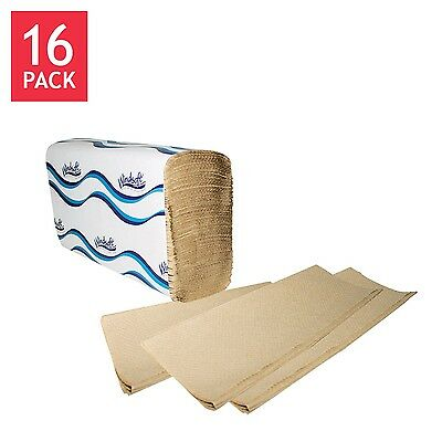 Windsoft MultiFold Paper Towels 1-Ply Natural 16ct