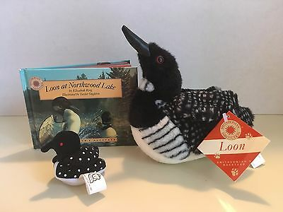 Smithsonian's Backyard + Plush Loon+ Book Loon at Northwood Lake+ tiny soft loon