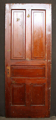 "32""x79""x1.75"" Antique Vintage Victorian Wood Wooden Exterior Interior Door Panel"