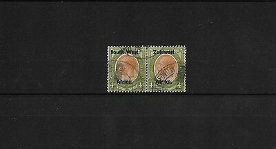 SOUTH WEST AFRICA SG20, 4d SE - TENANT PAIR, GOOD USED, CAT £21