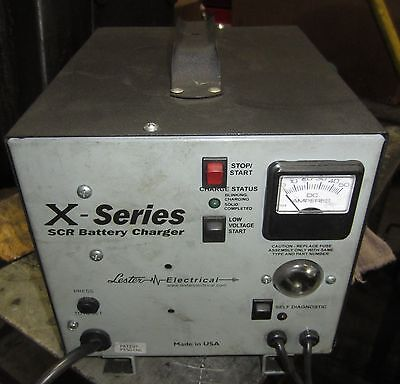 Lester Electric X-Series SCR Industrial Battery Charger, 24V, 35A, 60Hz