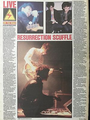 """JESUS + MARY CHAIN # LIVE COVENTRY LEGENDS # 1990 CONCERT REVIEW  # 16"""" x 12"""""""