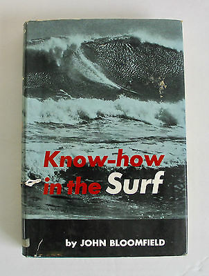 Vintage 1971 Know How In The Surf Hard Cover Book Surfboard Surfer Surfing