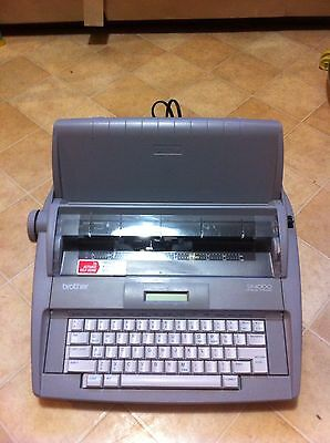 Brother SX-4000 Portable Electronic LCD Display Typewriter - Works