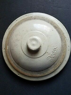 Very Early 3 Gallon Stoneware Lid Red Wing??