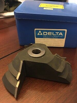 Delta double tongue and groove shaper cutter *NEW  carbide tipped