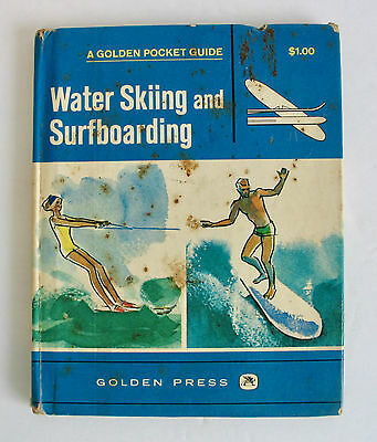 Vintage 1968 Water Skiing and Surfboarding Book 1st First Edition Surfing Surfer