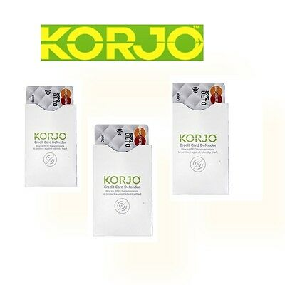 NEW Korjo Credit Card Defender Set 3 pieces (RFIDCC3)