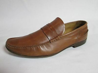 Bally Men's Shoes Brown Leather Penny Loafers Size 11.5