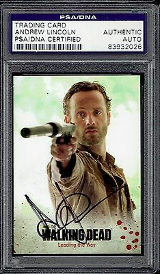 Andrew Lincoln Signed 2014 Walking Dead Card 1 Leading The Way Auto PSA/DNA