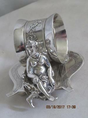 Victorian-Silver-Plated-Napkin-Ring-Woman Lounging Wilcox #01556,Meriden,Conn.#4