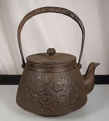 Antique Japanese Tetsubin Cast Iron Teapot Kettle