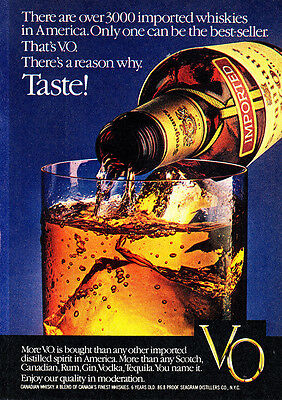 1981 Seagrams VO: There Are Over 3000 Imported Whiskies (25453)