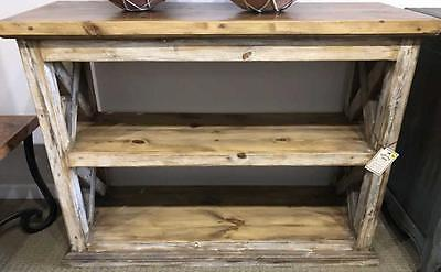 Rustic Style Small wood Bookcase Lot 231