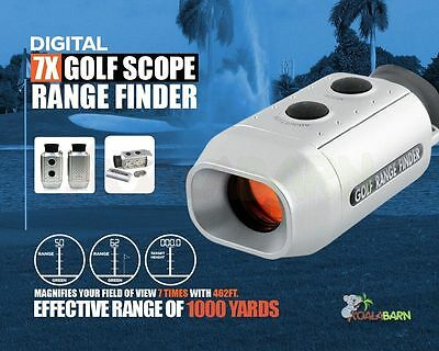 Digital 7x18M Golf Range Finder Scope With Case Golfscope