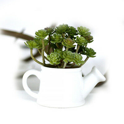 Meiliy Green Artificial Succulent Plant Mini Faux Potted Plants Home Hotel Decro