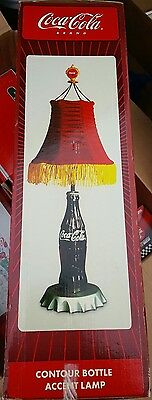 NICE Coca Cola Brand Contour Accent Bottle Lamp Cap Light Shade In Box NEW