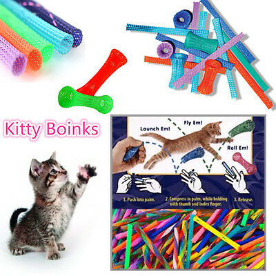 10/20/30/50 Interactive Cat Toys Kitty Boinks Pack Active Fun Chase Roll