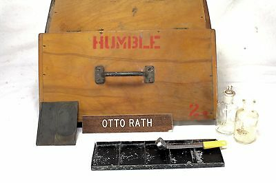 Vintage Humble Oil Geologist Field Box Test Kit Box - Advertising
