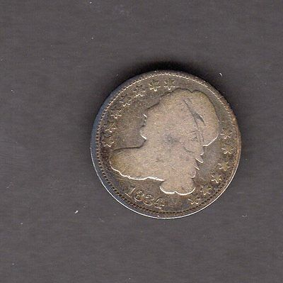 US 1834 Capped Bust Silver Dime Coin in G Good Condition
