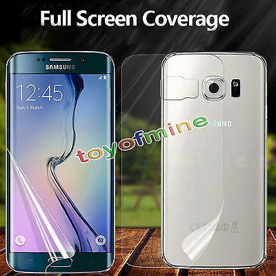 Full Front + Back TPU Screen Protector Film For Samsung Galaxy S8/S7/S6 Edge +