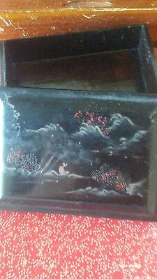 antique hand painted box