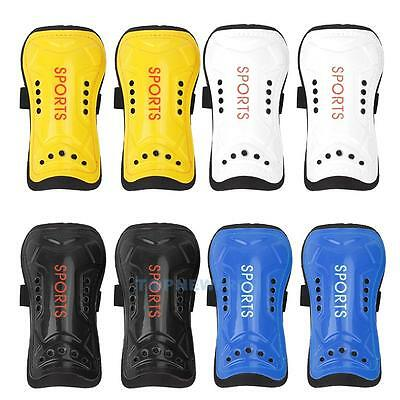 2 x Soft Light Football Soccer Shin Pads Guards Sports Leg Protective Gear Ankle