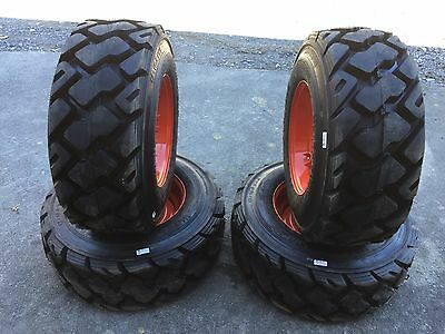 4-12-16.5 Ultra Guard MX Skid Steer Tires/Wheels/Rims for Bobcat 14 PLY-USA