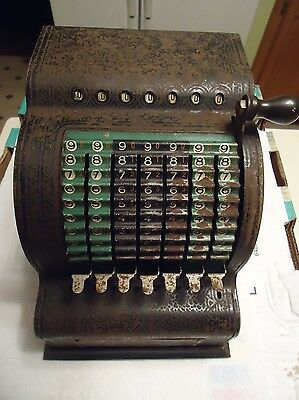 Antique American Can Co. Adding Machine for Decor of Display - Works!