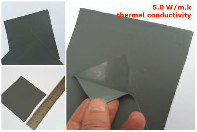 Thermal Conductive Silicone Pad 100*100*1mm CPU GPU Cooling 5.0 W/m.K Filler
