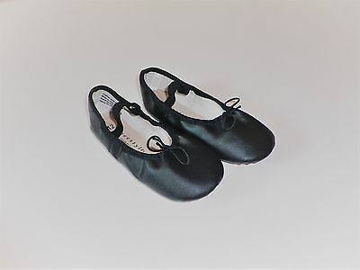 FREESTYLE By DANSKIN GIRLS BALLET DANCE BLACK SHOES (S1) SZ 12