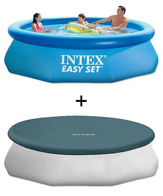 Intex 28120/28021 Easy Set Pool 305 x 76 cm + Abdeckplane Ø 305 cm Set NEU & OVP