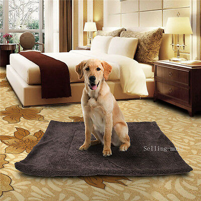 """Dog Bed Cat Mat House Warm Soft Sleep Cushion Kennel Crate Cozy 41"""" X 30"""" Large"""