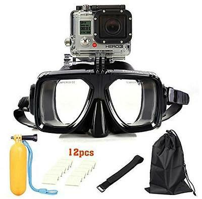 New Go Pro 6 IN1 Diving Scuba Tempered Class Mask Kit