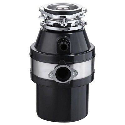 Garbage Disposer - 1HP Continuous Feed Food Waste Disposal 2600 RPM Home Kitchen