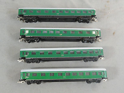 Vintage TT Scale LOT (4) DR Epoch Passenger Car Wagon Coach Green