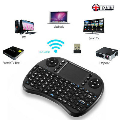 2.4GHz Wireless Mini Keyboard Remote Qwerty Touchpad For Android TV BOX UK STOCK