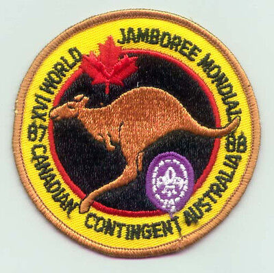 1987 World Scout Jamboree CANADA / CANADIAN SCOUTS Contingent Patch