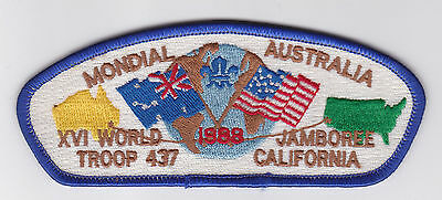 1987 World Scout Jamboree USA BOY SCOUTS OF AMERICA - BSA TROOP 437 JSP PATCH