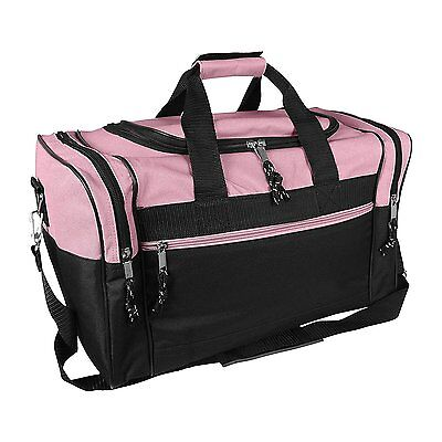 "17"" Womens Duffle Bag in Pink and Black...NEW"