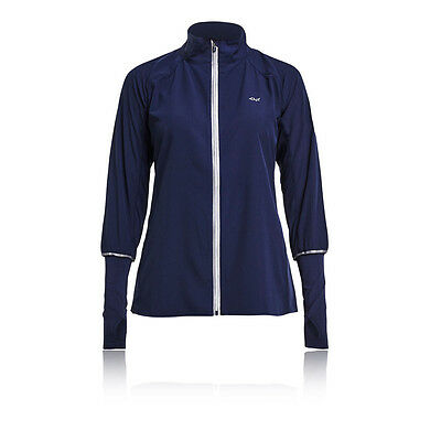 Rohnisch Hannah Womens Blue Long Sleeve Full Zip Running Sports Jacket Top