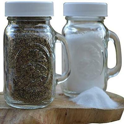 Classic Country Shakers Glass Mason Jar Salt & Pepper Shakers Set Of 2 Perfect