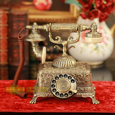 1933 king classic metal retro Antique phone Vintage rotary dial telephone F067