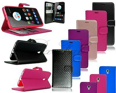 """For ZTE Blade V7 (5.2"""") New Stylish Black Leather Flip Stand Wallet Phone Case"""