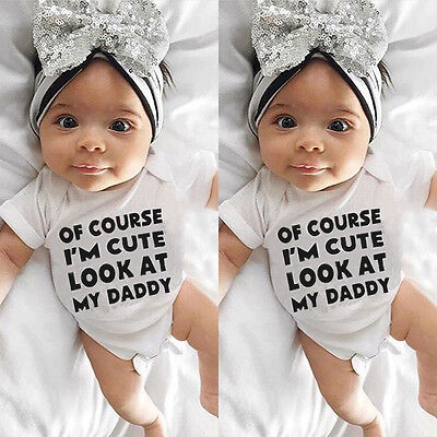 Newborn Infant Baby Girl Boys Romper Bodysuit Jumpsuit Outfit Sunsuit Clothes US