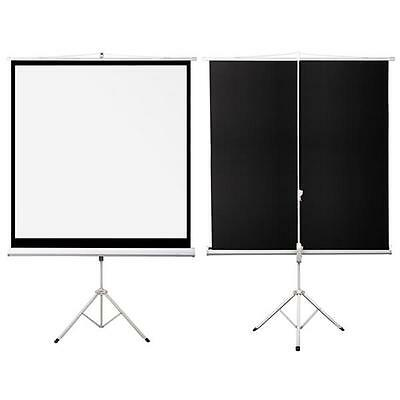 "70"" Matte White Tripod HD Portable Manual Pull Down Projector Projection Screen"